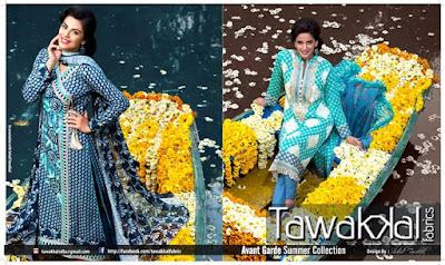 Avant Garde Summer Collection 2015 By Tawakkal Fabircs