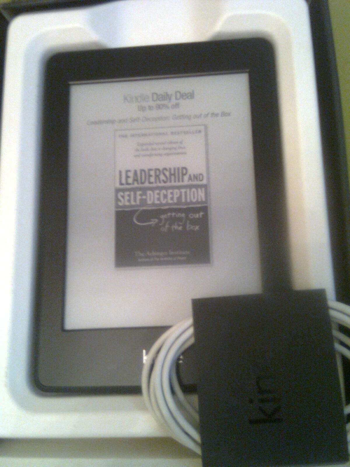 Inside You'll Find The Usual Usb Cable For Charging And Transferring  Content To The Kindle The Standard Packaging Does Not Include A Wall  Charger Or