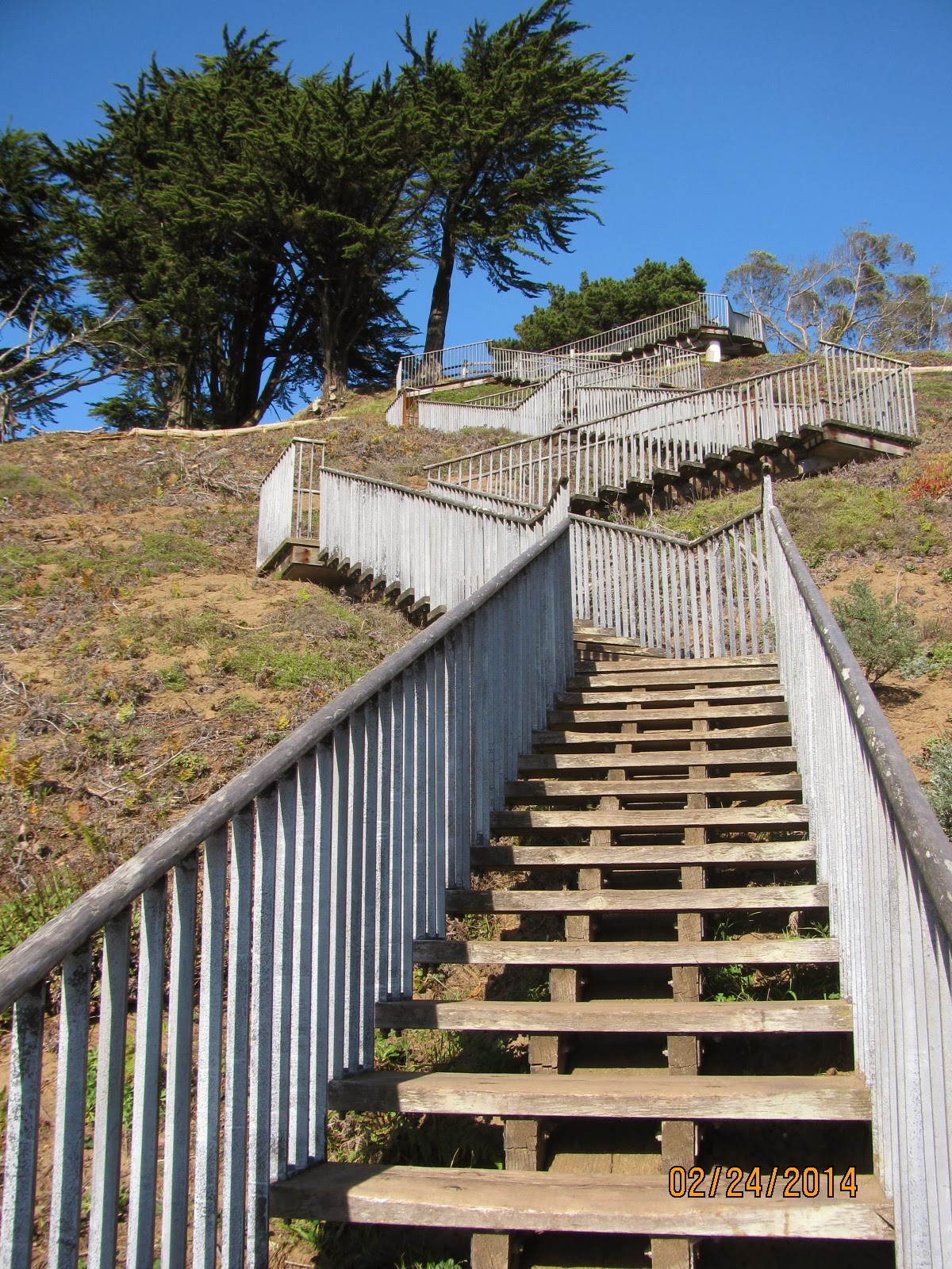 Grand View Park- Winding Wooden Stairs