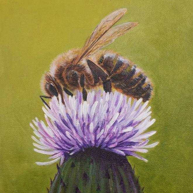 Honeybee (Acrylic) -sold