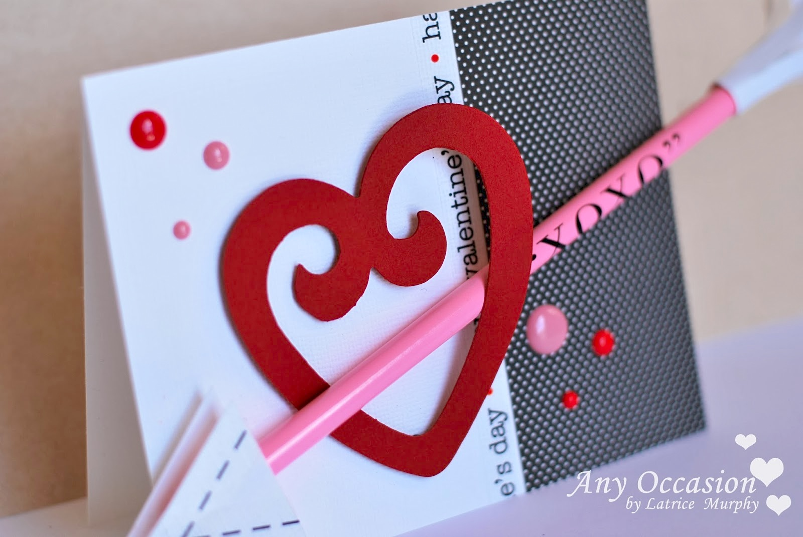 SRM Stickers Blog - Valentine Pencil Cards by Latrice - #valentines #stickers #pencils #stitches