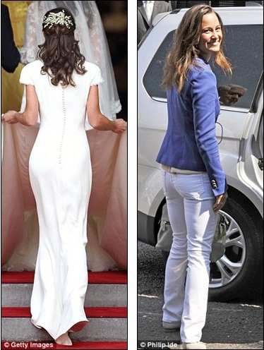 pippa middleton thigh. Famous: Pippa#39;s derriere has won millions of admirers since stepping out as