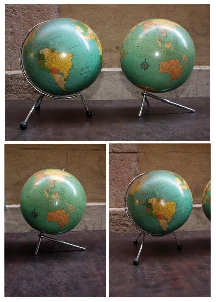 Antic beauty pareja de globos terraqueos - Globos terraqueos barcelona ...