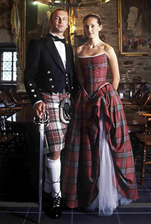 scottish wedding dresses with tartan
