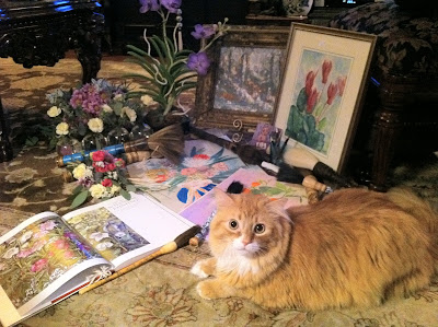 Painting cat Phillip - Stein Your Florist Co.