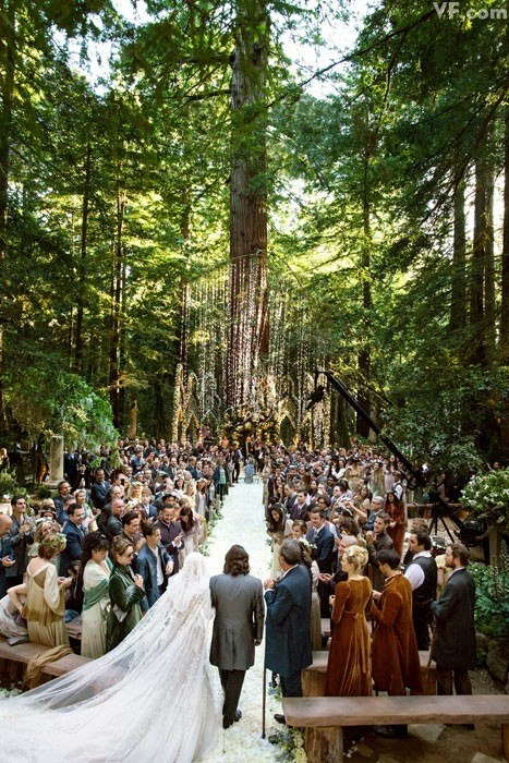 Sean Parker gets married in Middle-Earth