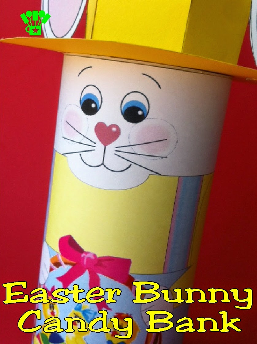 Easter Bunny Candy Bank Printable by Kandy Kreations