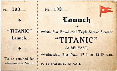 Tiket kapal Titanic.