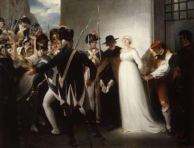 Reina María Antonieta de Francia al momento de ser llevada a ejecución Obra de William Hamilton