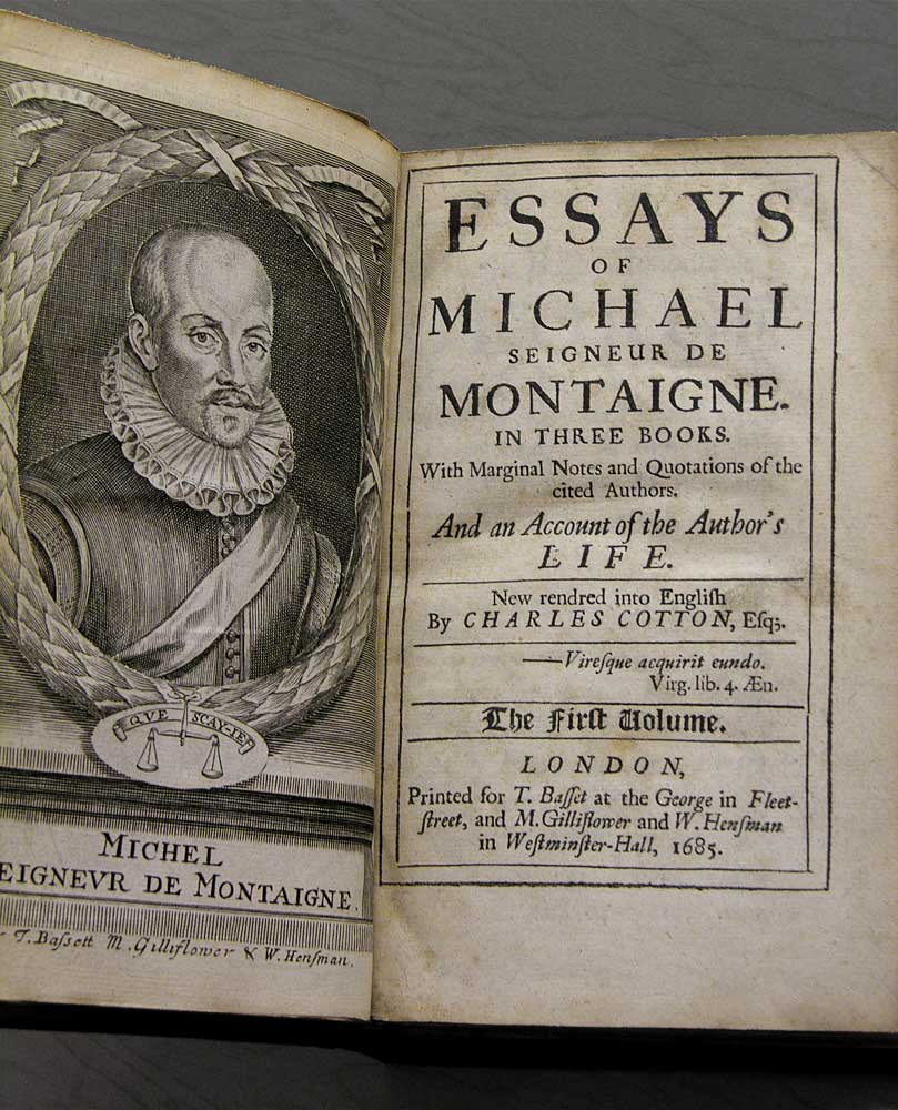the essays from montaigne notes