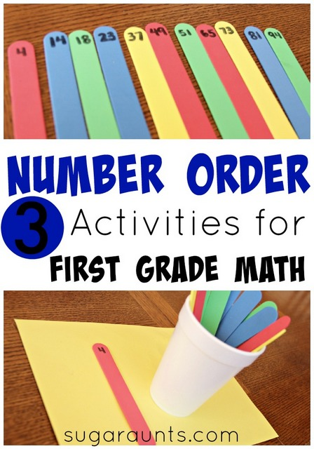 Teaching Number Order: Activities for first grade math
