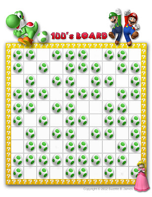 In Him Mario Bros Amp Friends Hundreds Board Printabes