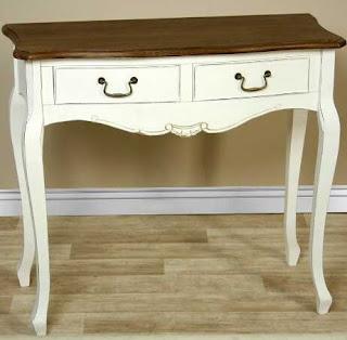 Mueble recibidor bicolor blanco