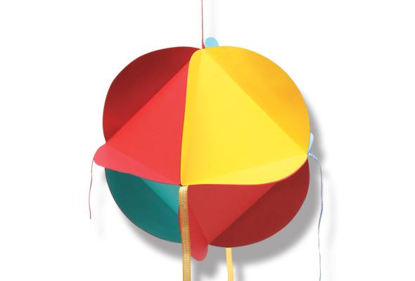 enfeites para jardim passo a passo: DA TIA SUH: Molde para fazer balão para festa junina- Passo a Passo