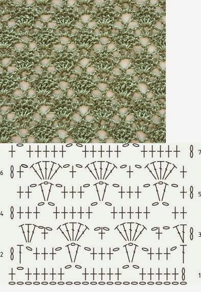 Crochet Stitches Diagrams Pinterest : EN CROCHET CON GR?FICOS PATRONES GRATIS ~ TODO PATRONES CROCHET ...