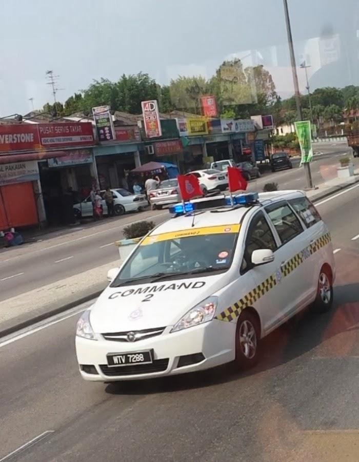 Proton Exora Police Car Commad 2