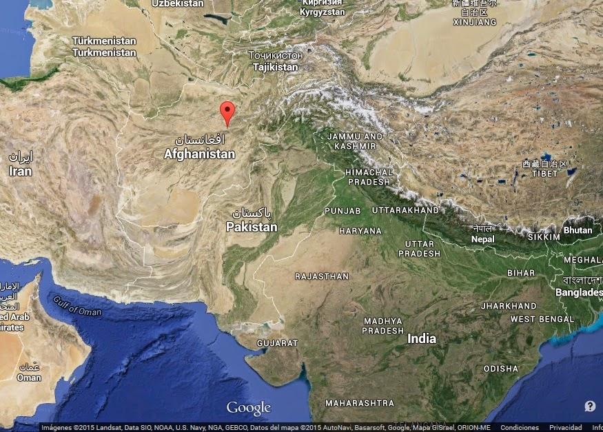 Mapa con la situación de Bamiyán (Afganistán) - www.historiadelascivilizaciones.com