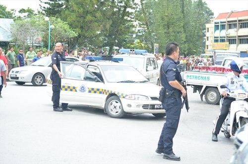 Gambar Ketegangan Berlaku Di Lawas Sarawak