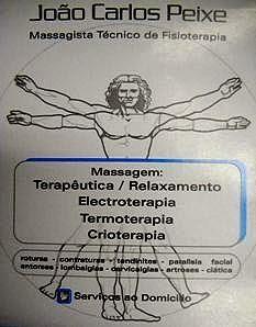 JOÃO CARLOS PEIXE  Massagista Técnico Fisioterapia