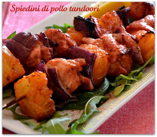 spiedini di pollo tandoori -chicken tandoori skewers