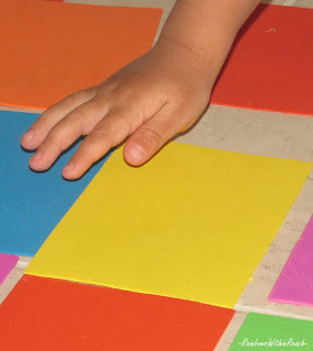 child's hand, preschool, color, shapes, rectangles, design