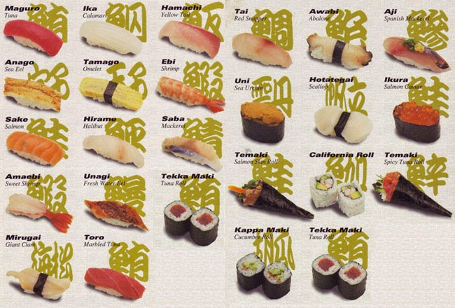 real sushi rypes
