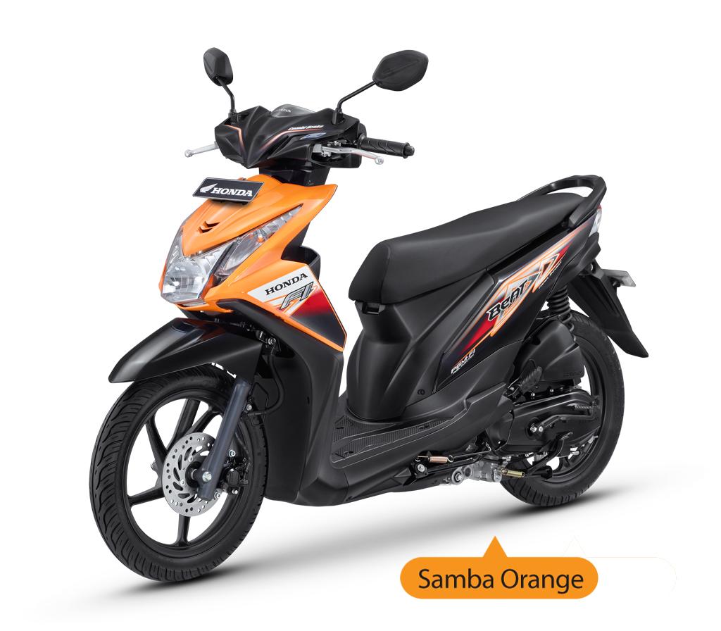 New Honda Beat Injeksi Samba Orange