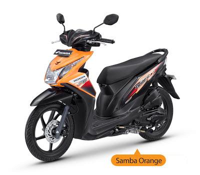 New Honda Beat Injeksi Orange