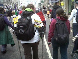The backs of Jack and Sharon as we marched