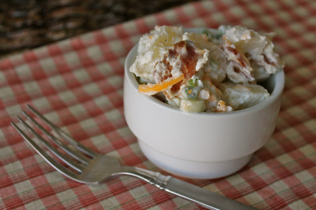 Loaded Baked Potato Salad via The Taste Tester