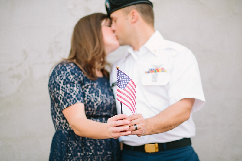 military couple engagement photo