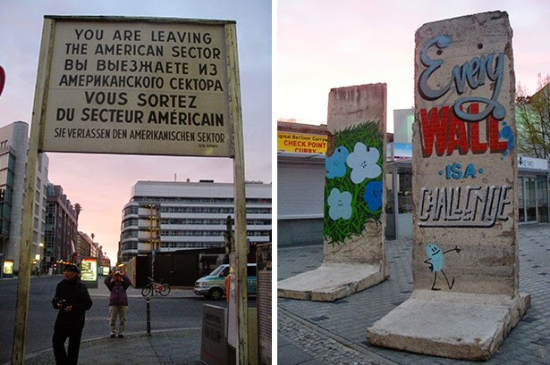 Checkpoint Charlie and the Berlin Wall in Berlin, Germany