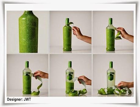 Peel the Smirnoff Bottle