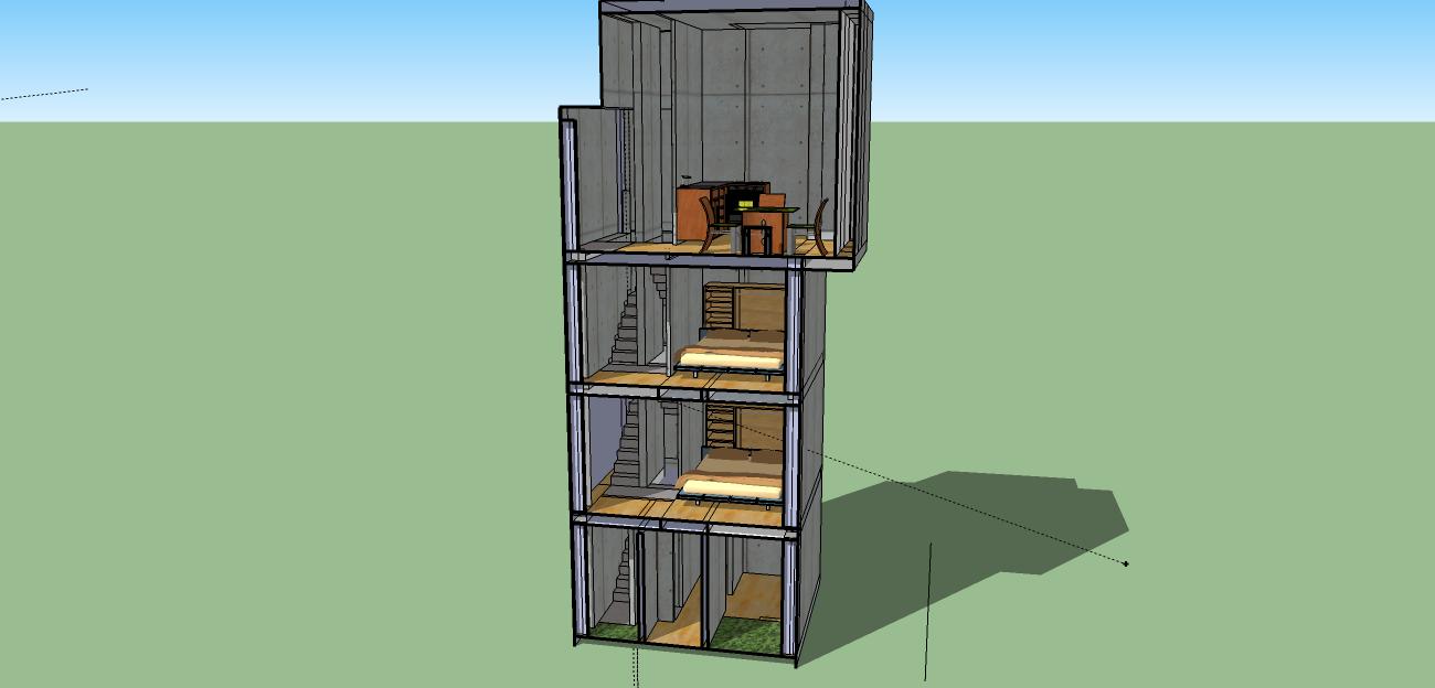Casa 4x4 tadao ando casa 4x4 tadao ando for Minimalist house escape 4