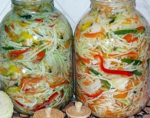 салат из капусты на зиму рецепт с фото