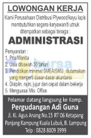 Lowongan Kerja Administrasi