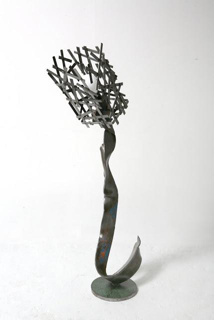 lampe métal recyclé pièce unique