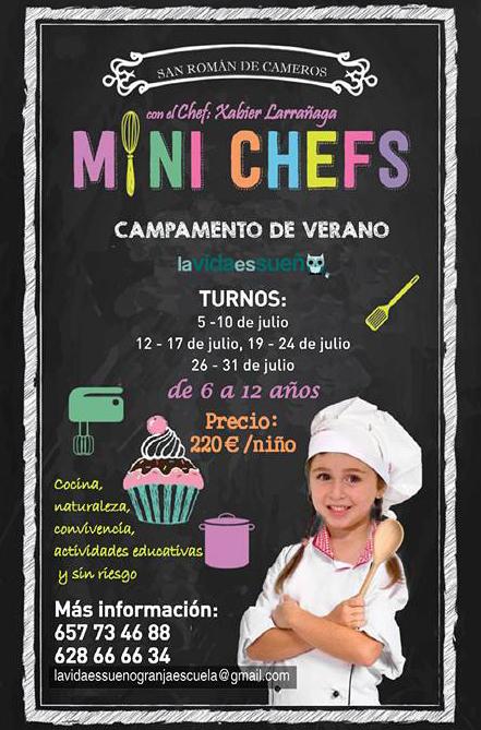 Campamentos MiniChefs en LaVidaEsSueño de San Román de Cameros