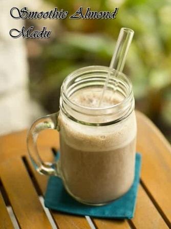 Gambar puding smoothie almond madu sehat dan segar spesial