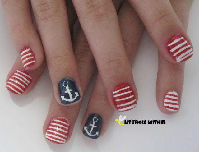 Toni asked for a replica of a sailor mani she had seen on Instagram
