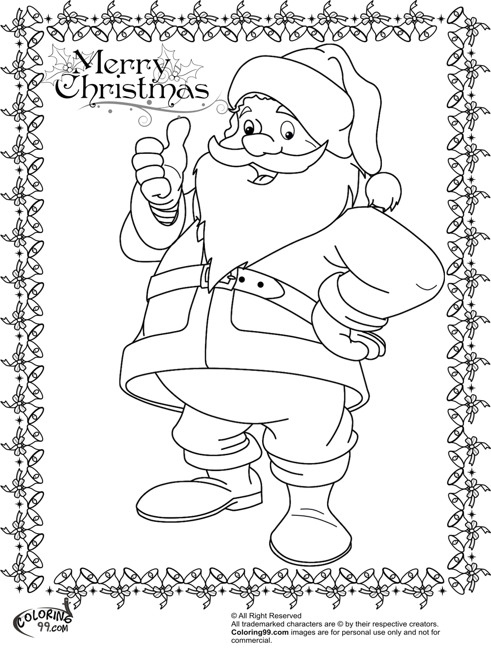 funny santa claus coloring pages for kids