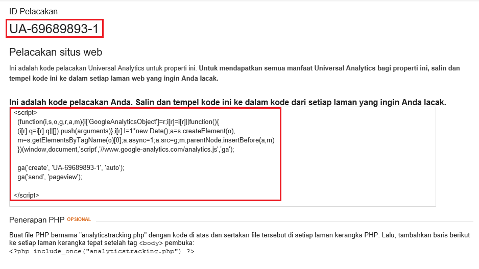 Cara Pasang Google Analytics