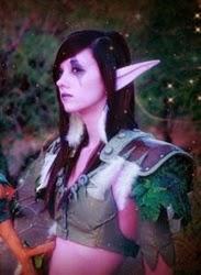 cosplay de elfa oscura
