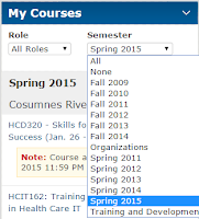 image of My Courses widget.