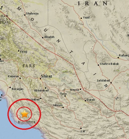 Magnitude 4.7 Earthquake of Firuzabad, Iran 2015-04-10