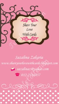 Personalised Business Cards, signboard, pink