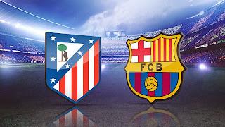 اهداف مبارة اتلتيكو مدريد و برشلونة 0 -1 الدورى الاسبانى