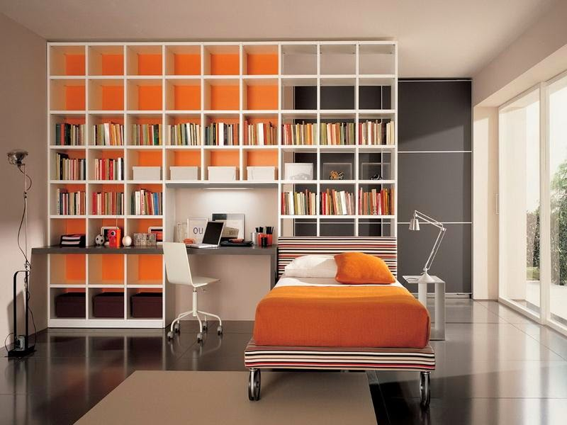 Bedroom Bookshelf Decorating Ideas