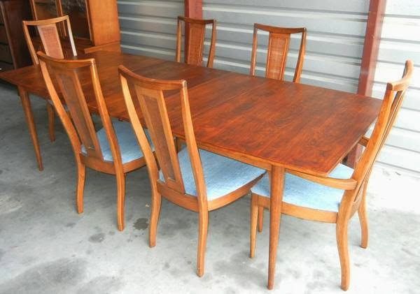 Mad for Mid-Century: Broyhill Sculptra Dining Room Set for Sale