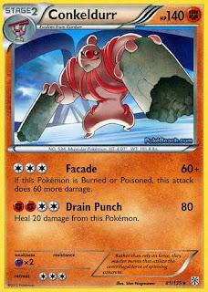 Conkeldurr Plasma Storm Pokemon Card
